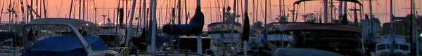 masts at sunrise